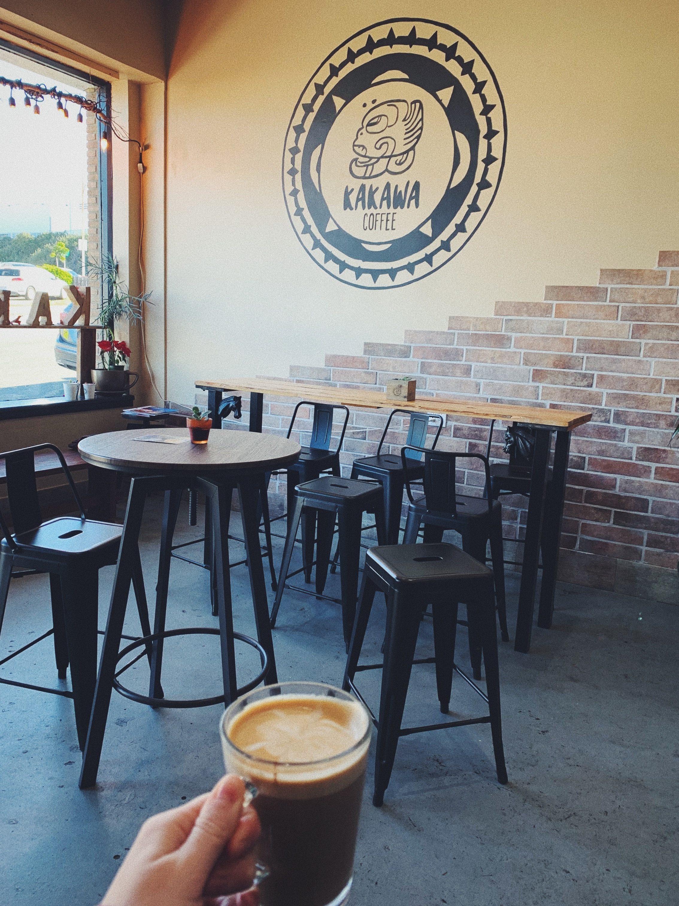 Checking out a local coffee shop: Kakawa Coffee.