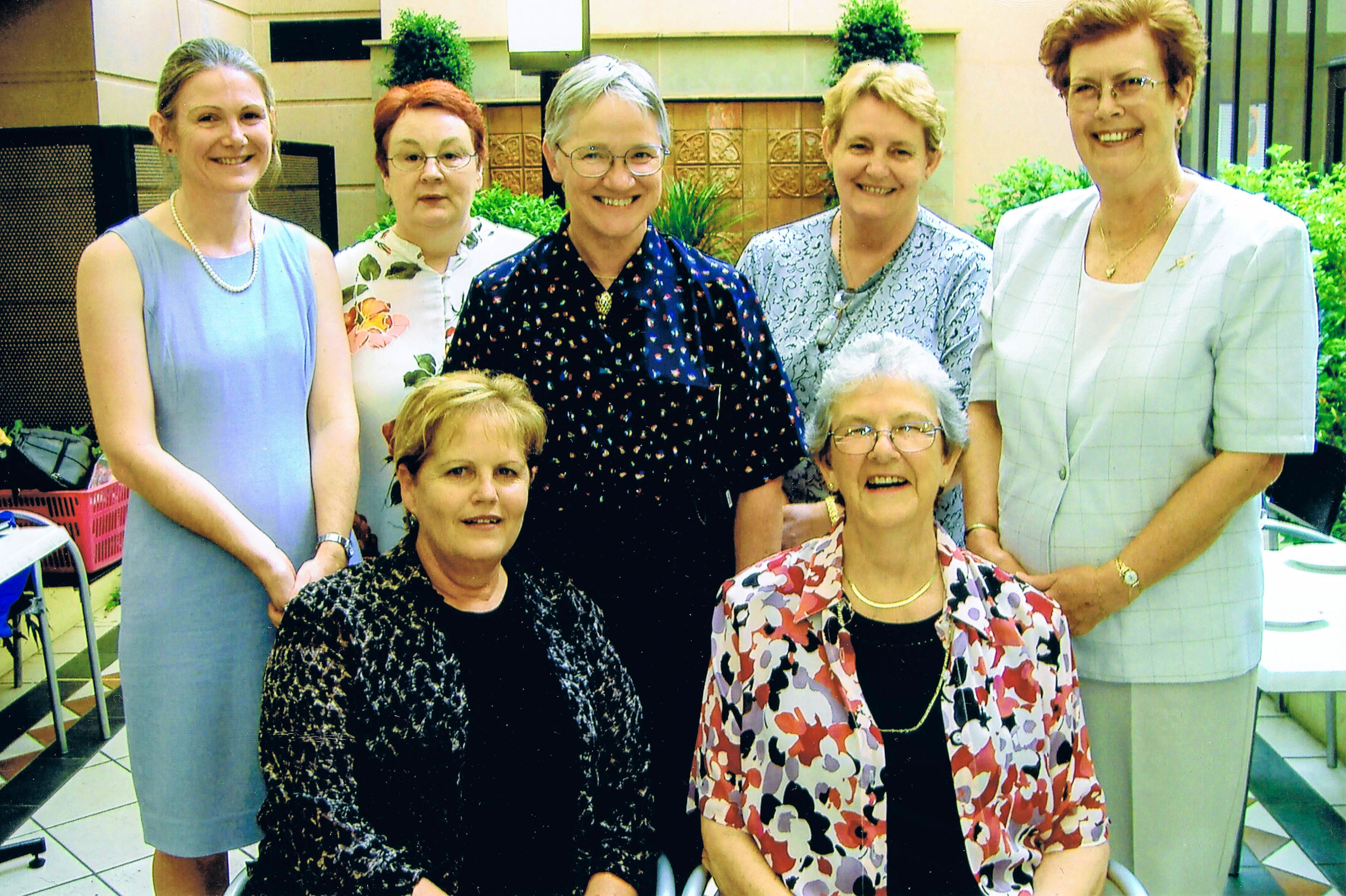 Our trustees on 1st March 2006  L-R: Anne Williams, Patsy Turner, Jeanette Robertson, Ann Callaghan, Caralyne Wilson, Gail Milner (seated L), Wilma Gardiner (seated R)
