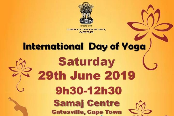 Athlone, Cape Town - 29 June 9:30-12:30Samaj Centre, GatesvilleShort talks, film, demonstrations and meditation. Event presented by the Consulate General of India, Cape Town