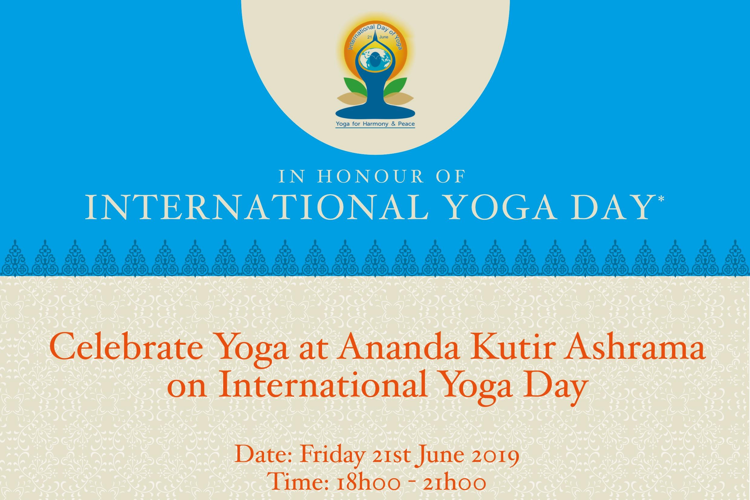 Rondebosch, Cape Town - 21 June 18:00-21:00Ananda Kutir AshhramaHatha Yoga, Meditation, Talk on integral yoga, Kirtan, Prasad
