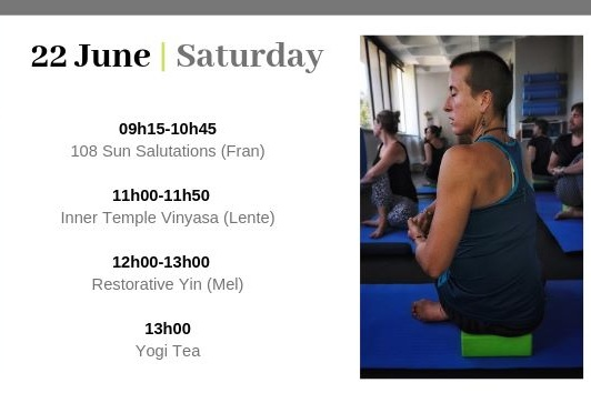 Stellenbosch - 22 June 9:00-13:00The Little StudioSun Salutations, Inner Temple Vinyasa, Restorative Yin and Yogi Tea