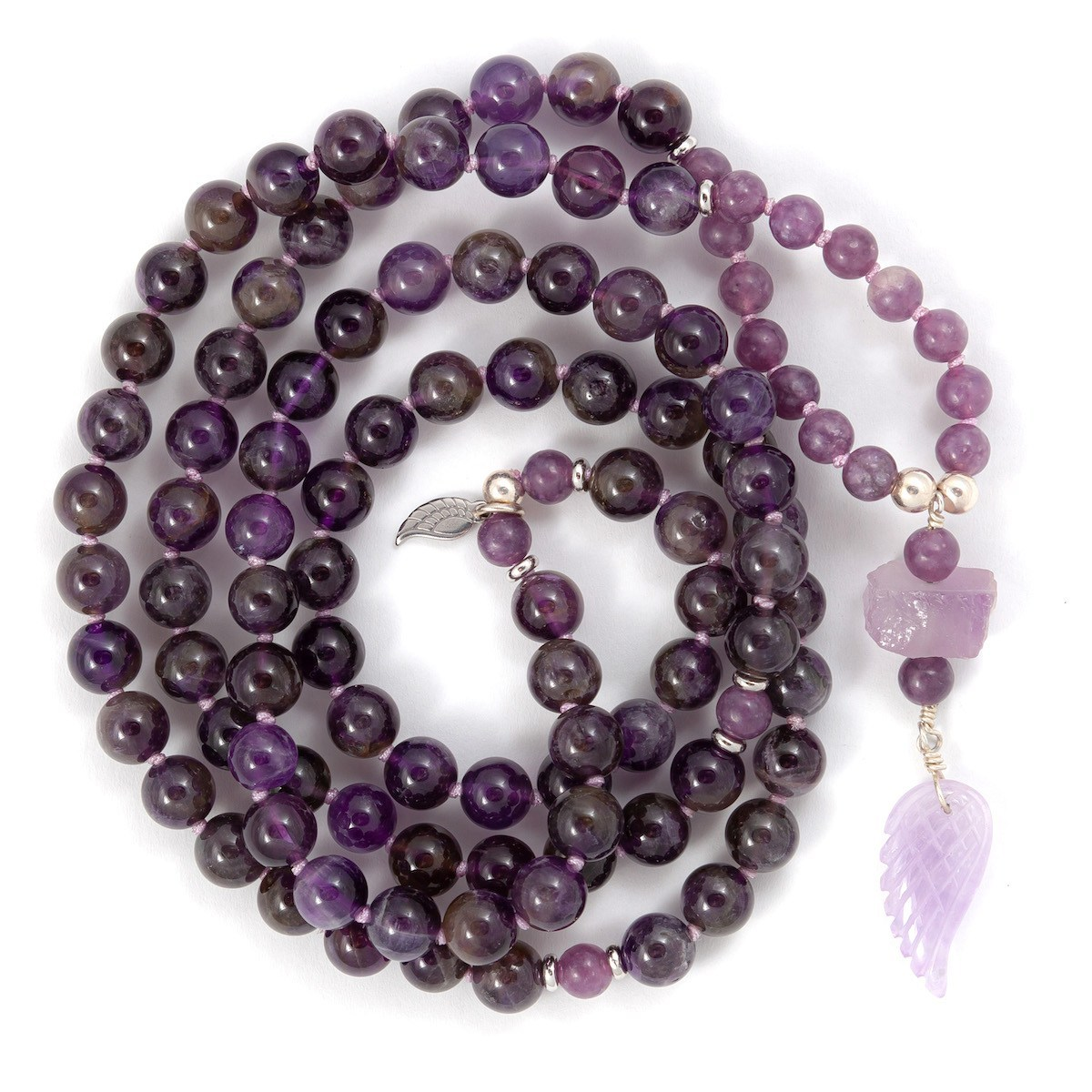 Amethyst & Lepidolite Mala - Intuition:PeaceR940.00