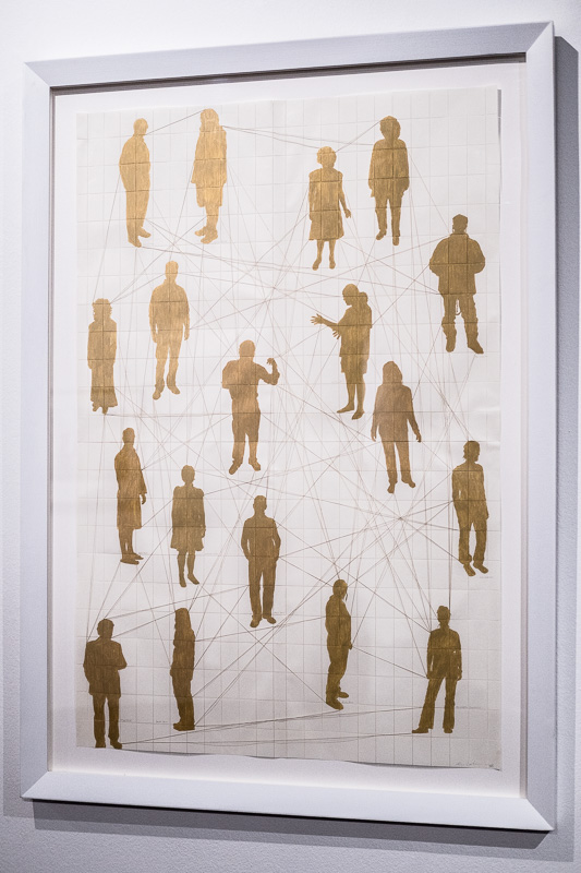 """Human Constellations, Kim Lieberman. Aus der Ausstellung unter dem Titel """"I Am Because You Are"""" A search for UBUNTU with permission to dream in Standard Bank Gallery."""