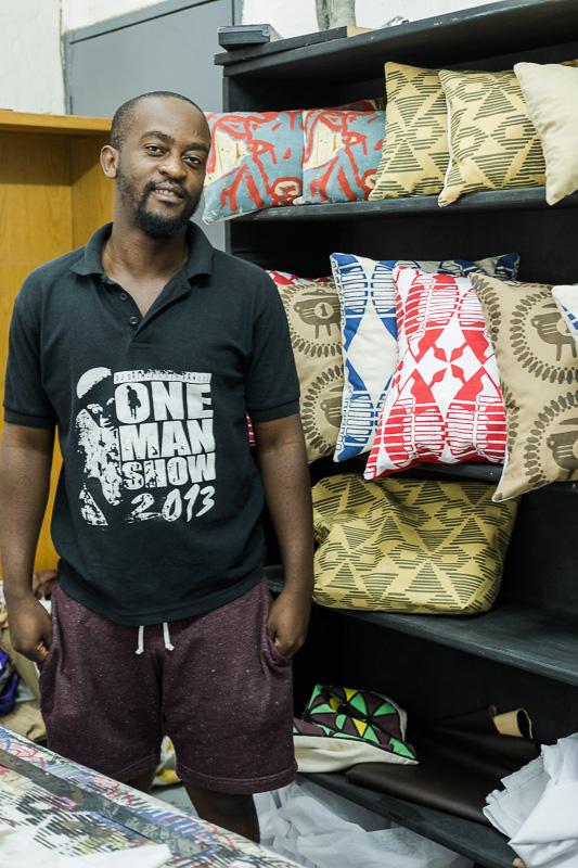 Textile Designer und Screen Printer Xolisile Qwesha