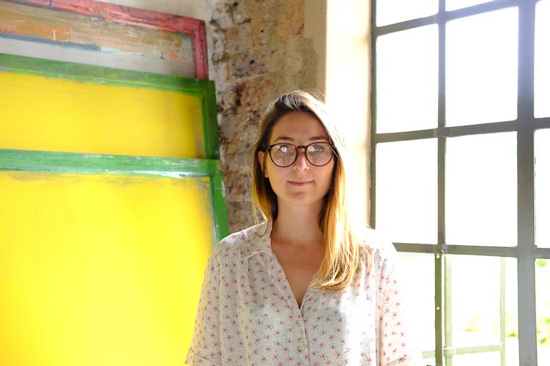 Amaya Delmas in ihrem Graphic Design Studio Olwandle (By the sea in isiZulu)