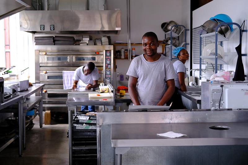 Küche des Treviso Cafe