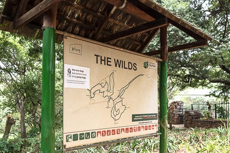 Am Eingang des Parks findet man die Übersichtskarte, um sich orientieren zu können.