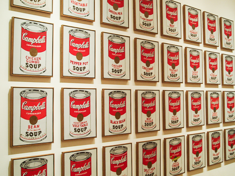 Andy Warhols Suppendosen. MOMA 2010