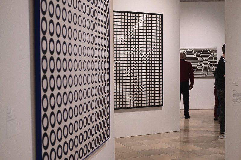 Schwarz-Weiß Werke von Victor Vasarely