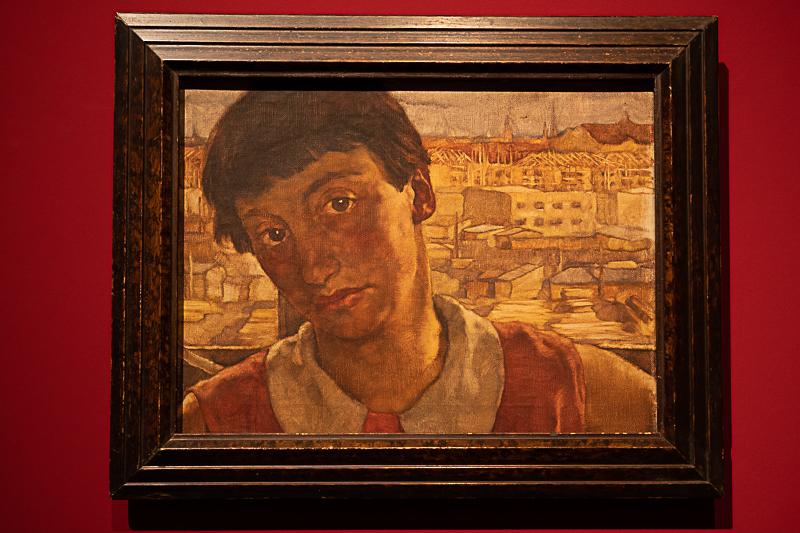Selbstportrait im Atelier Friedrichsruher Straße, entstanden um 1927