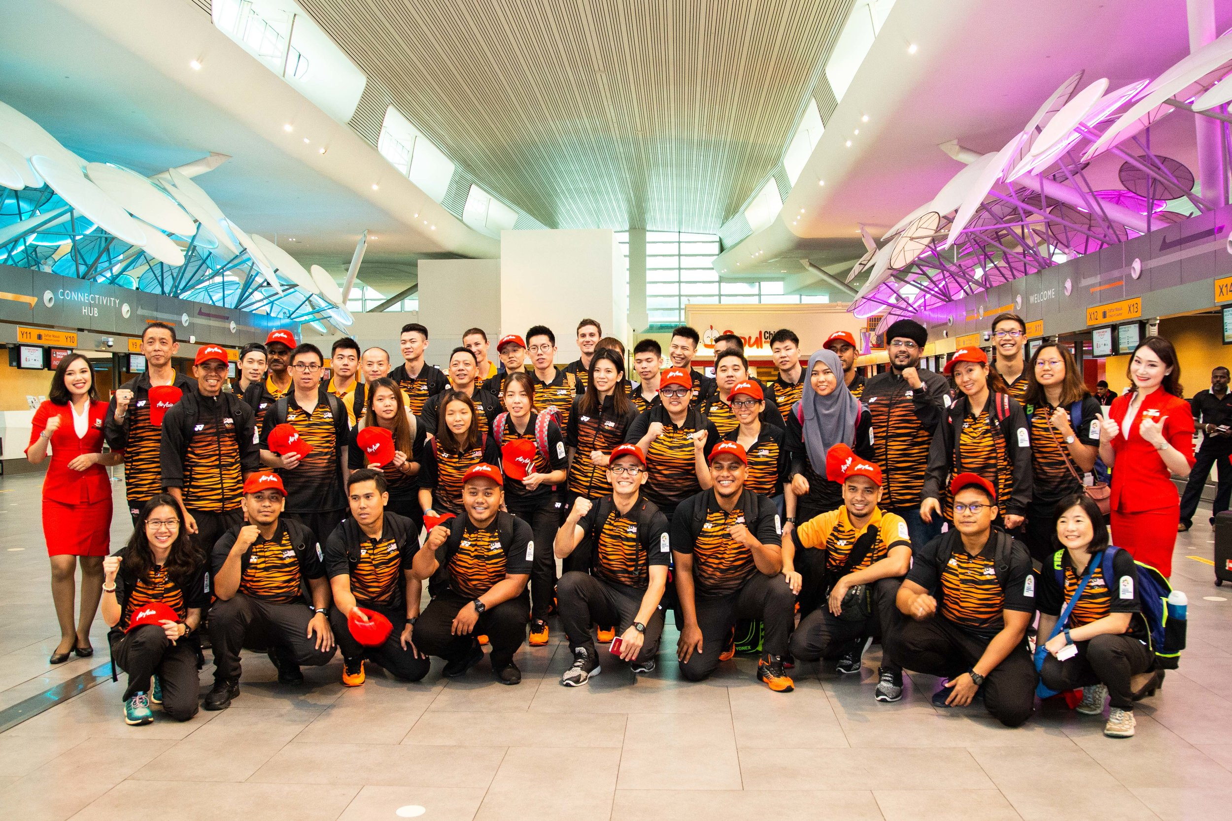 Malaysian shuttlers, swimmers and medical personnel heading off to Indonesia for the 2018 Asian Games.