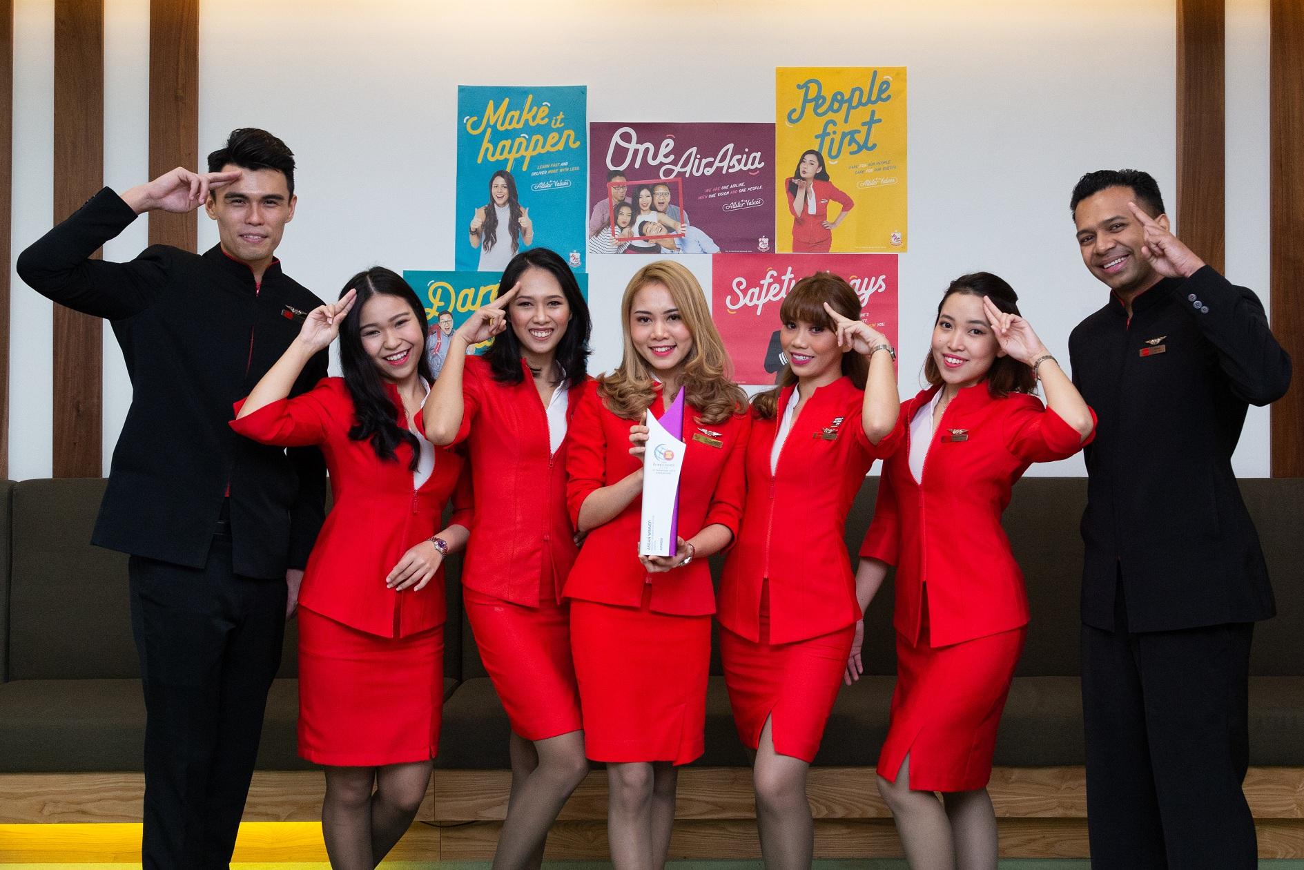 AirAsia membawa pulang penghargaan Asean Business Awards tahun 2018 untuk Sektor Prioritas Integrasi bidang aviasi