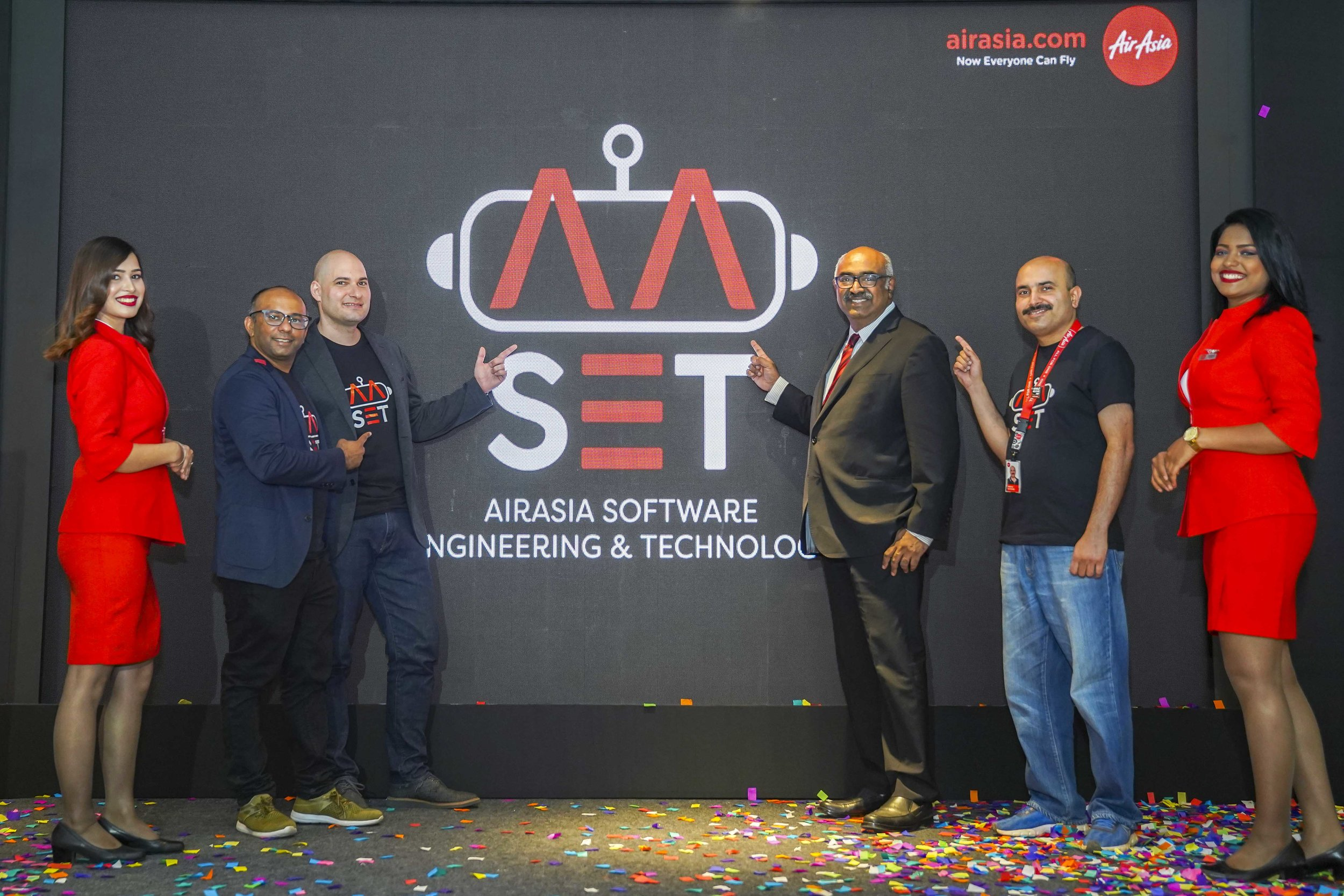Photo Caption: (2nd from left) AirAsia Chief Product Officer Nikunj Shanti, AirAsia Group Head of Software Engineering and Technology Elias Vafiadis, AirAsia India Managing Director & Chief Executive Officer Sunil Bhaskaran and AirAsia Head of Software Engineering Anshul Goswami at the launch of AirAsia Technology Centre in Bengaluru, India today.