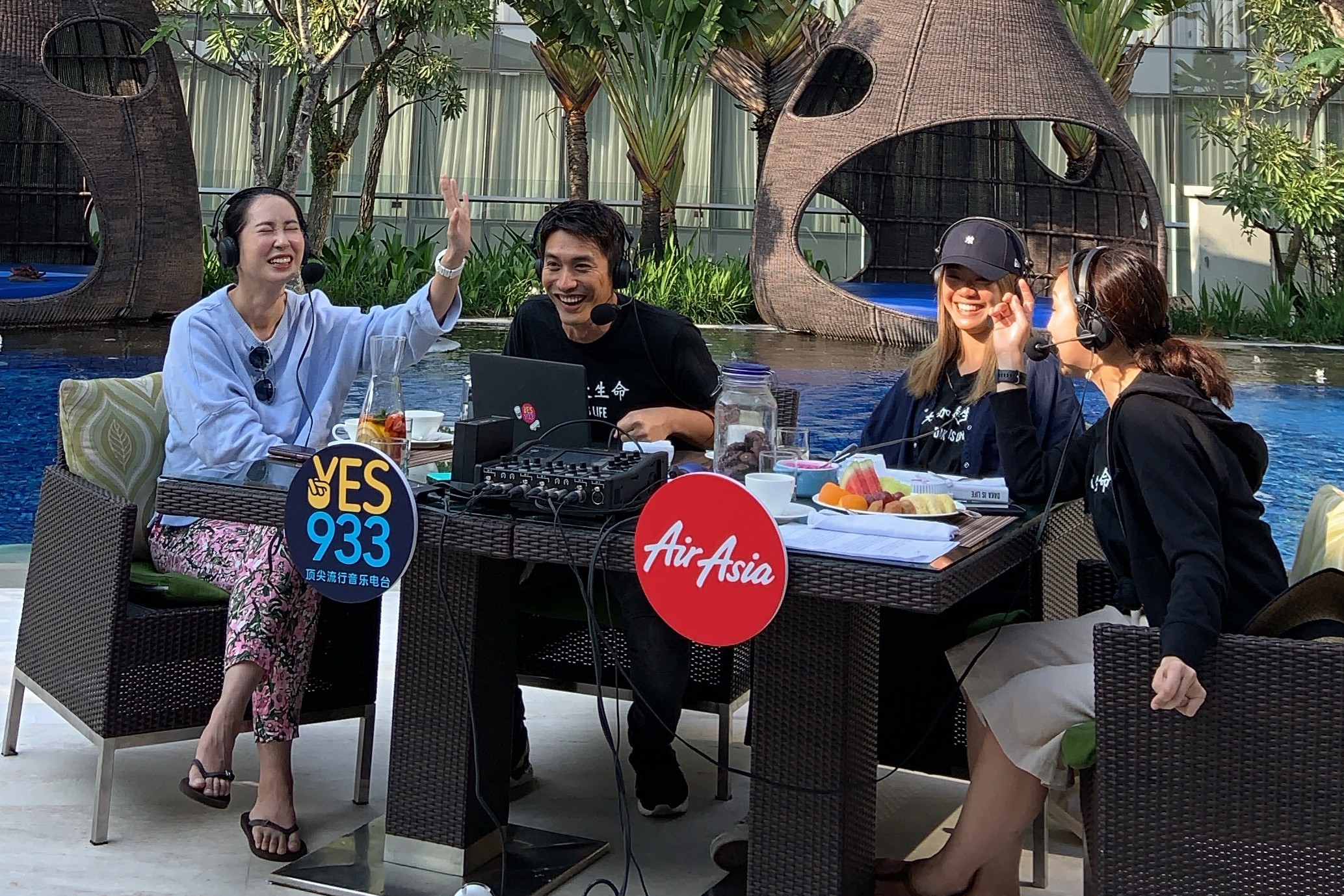 YES 933FM DJs doing a LIVE outdoor broadcast with Paige Chua in Bandung