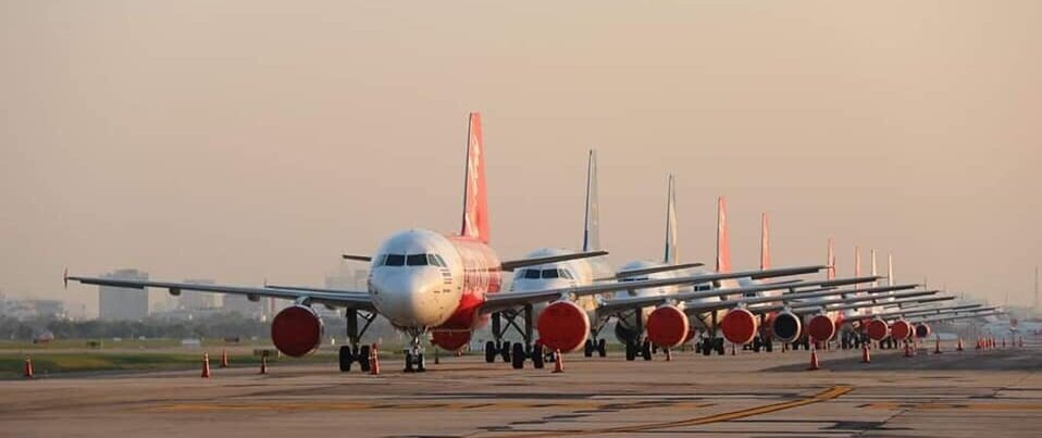 Too big a fleet for the airports.