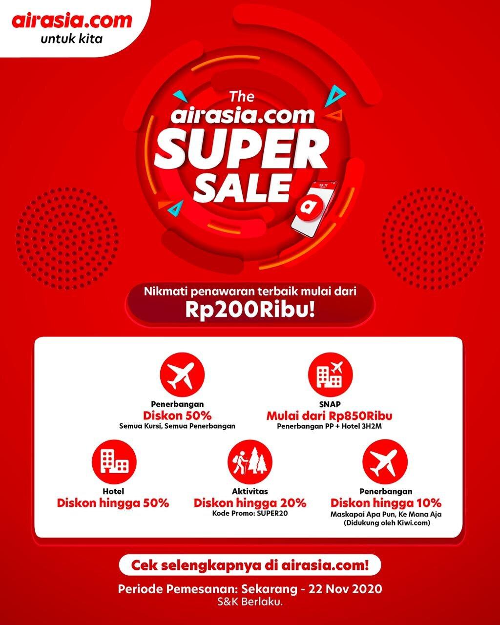 The Airasia Com Super Sale Hadir Kembali Tawarkan Diskon Hingga 50 Airasia Newsroom
