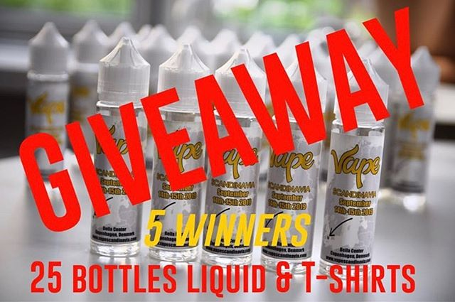 Publish in profile 👉🏻👉🏻@oyawi ・・・ 🔥🔥🔥GIVEAWAY🔥🔥🔥18+ - only Europe Have a chance to win 5 bottles liquid and a T-shirt from @vapescandinavia . I Will pick 5 winners.  STARTS: 6TH OF JUNE 2019   ENDS 6TH JULY 2019 00:00 • 1.Like this post 2. Comment and tag freinds (MORE COMMENTS MORE LIKELY) 3. Follow @oyawi & @vapescandinavia ............................... • The winners will be contacted privately via Instagram Direct. PLEASE NOTE that the winners will pay for the postal fee. Good luck 🤞🏼