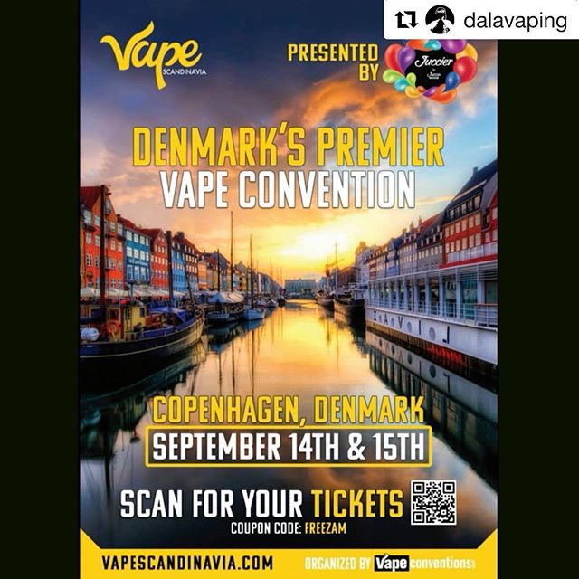 @dalavaping ・・・ Be sure to check out this upcoming event in Copenhagen and head over to @vapeconventions and @vapescandinavia and give em a follow ❤️ -------------- @vapeconventions, the people who brought you Vape South America is on their way back to Scandinavia!! @vapeconventions excited to be back in the beautiful Copenhagen, Denmark. This is our 2nd annual expo here that is going to be bigger and better (and there will be A/C this time!!) Sample and purchase products from 100+ of the world's largest and most popular vape brands who will be exhibiting their latest e-liquids, hardware and other vapor products at our expo  Local Vaping Advocacy groups will be on hand all weekend to discuss the current state of the industry in Northern Europe.  #vapelife #vapeporn #vapelyfe #vapecommunity #vapefam #Vaping #vapeon #subohm #eliquid #cloudchaser #vapedaily #vapenation #ecig #general vapers #vapelove #girlswhovape #vaper #dripclub #mod #vapes driplife #smoke #instagermany #denmark #sweden #copenhagen #vapescandinavia