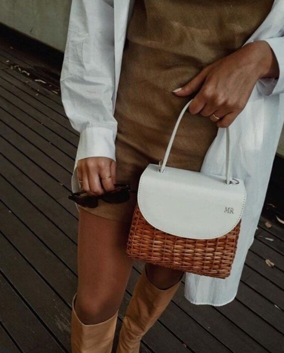 Customize your Bag! - Create your own Milena Basket byadding your initials.Made just for you!START NOW!