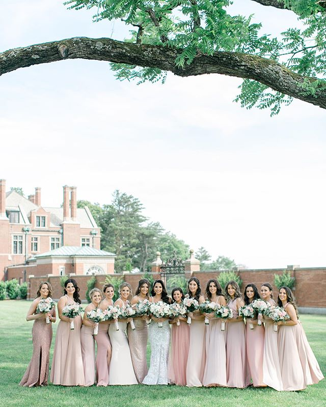 These GORGEOUS ladies at this stunning venue! Photo by @jessaschifilliti  Venue: @natirarweddings  Planner: @kimberlypaigeevents  Photographer: @jessaschifilliti  Flowers: @dahliaflorals  Bride: @jenna_lynn1  Hair: @beyoutiful_bride  Makeup: @makeupbymichele_eva & @meghanbellabeauty Fashion: @lfaybridal @badgleymischkabride @berta  #wedding #weddingdress #luxurywedding #dreamwedding #lightandairyphotography #weddinginspiration #bridesmaids #bridesmaidsdresses
