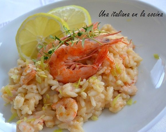 RISOTTO WITH PRAWNS AND LEMON
