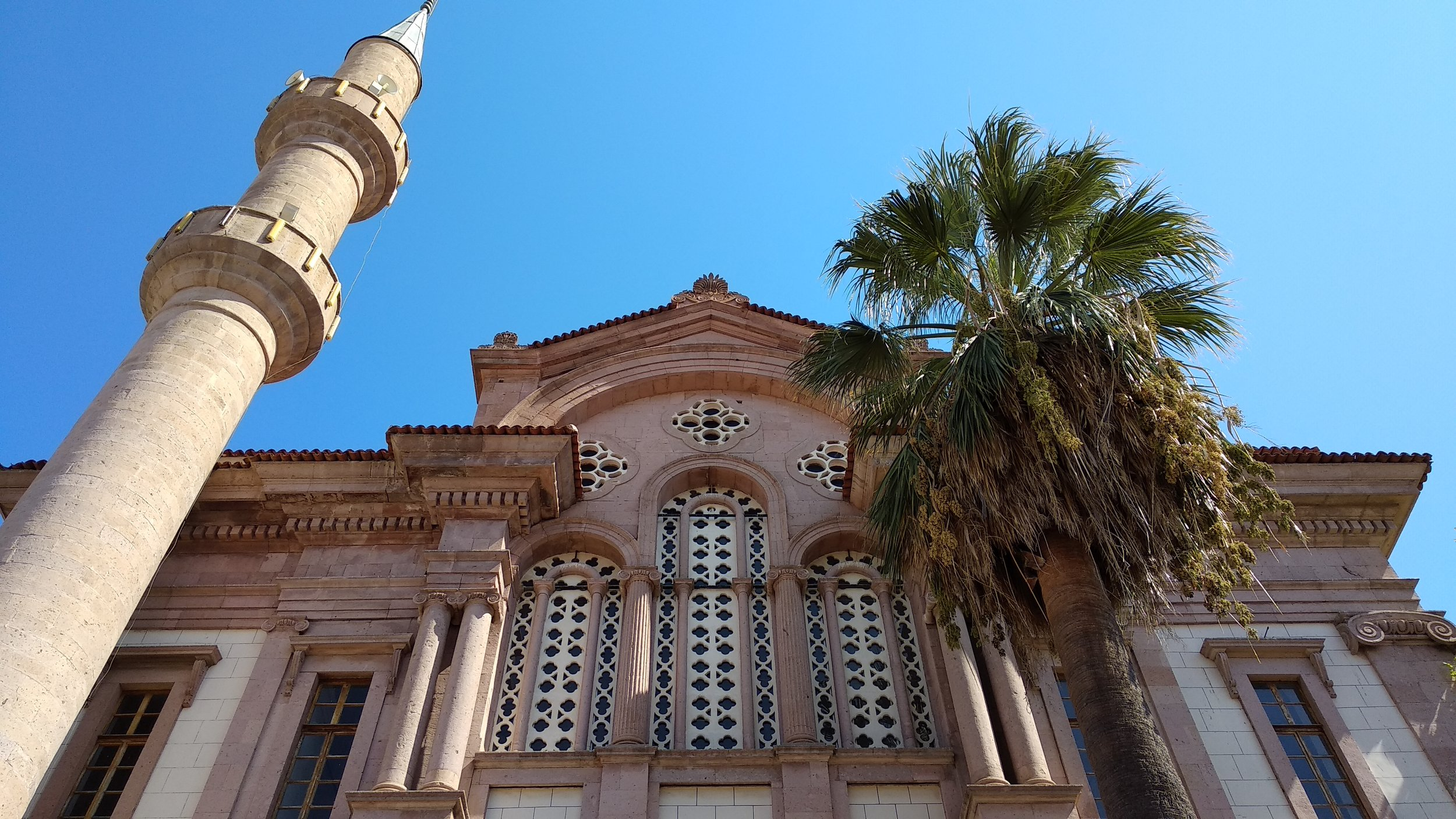 The Alibey Mosque was built in 1790 as the Greek Orthodox church of Ayios Yorgis and converted to a mosque in 1923