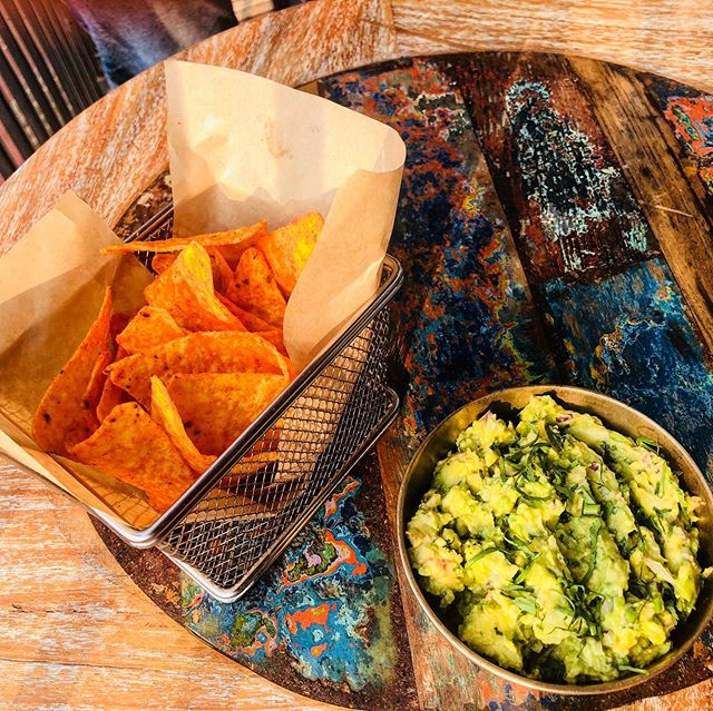 One of our favourites this time around, avocado mash and chips! 2 more days to go before it ends! #goagoesmexican