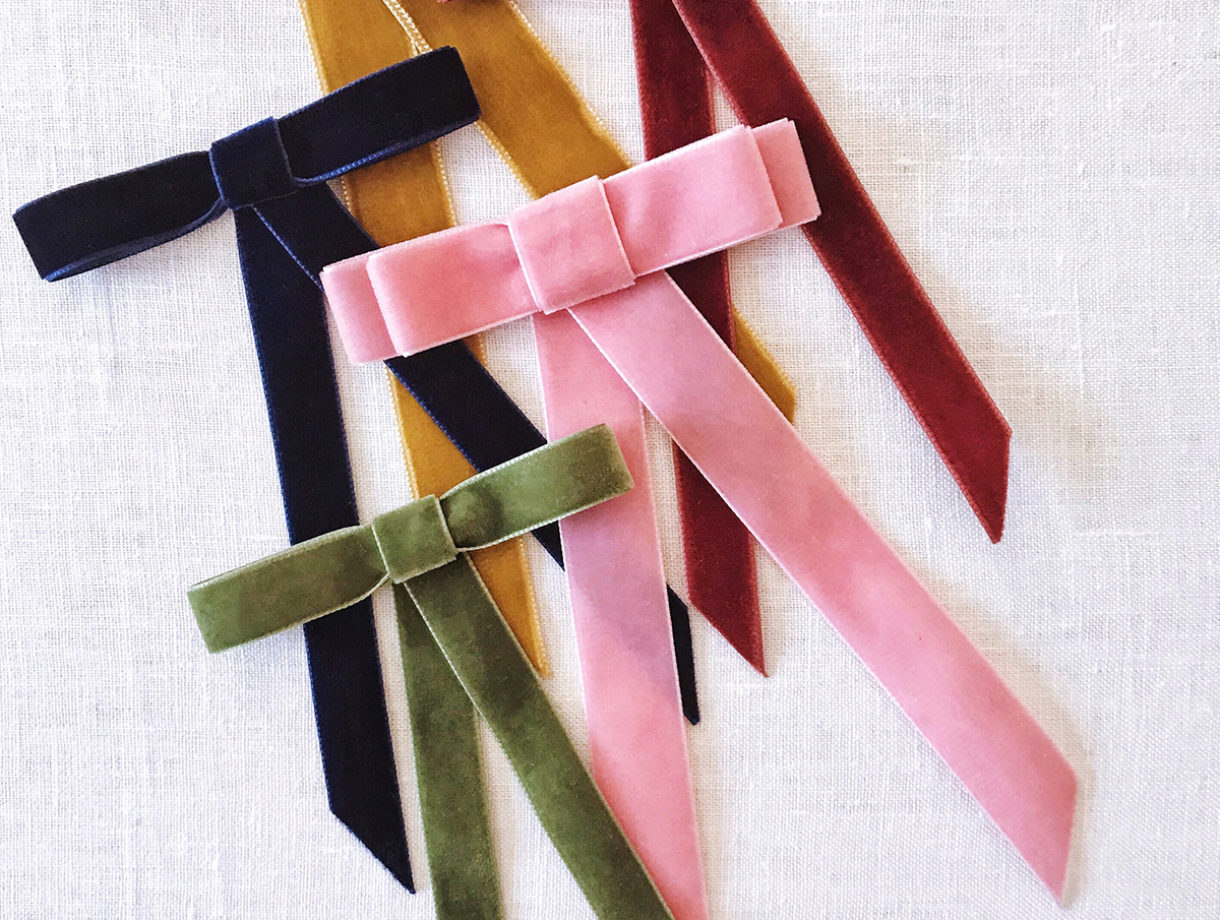 As a little girl I would always where ribbons in my hair. This craft brought back some great memories and who doesnt enjoy a simple touch of velvet?