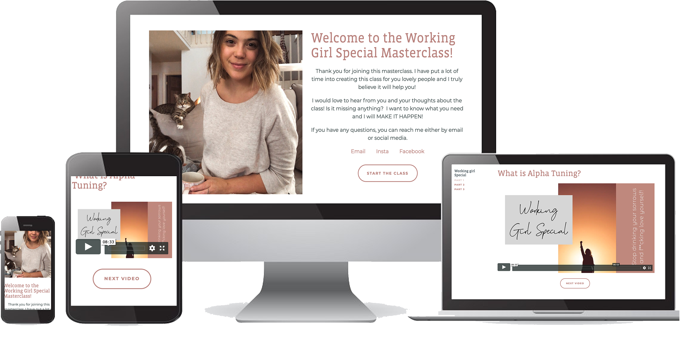 Free masterclass all about self love and owning who your are online course working girl special