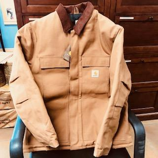 Caledonia Elevator has donated this Men's Carhartt. Perfect for MI weather.