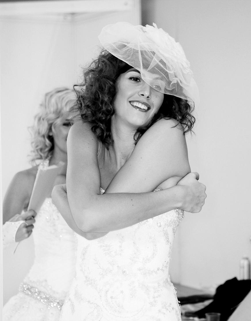black and white wedding image