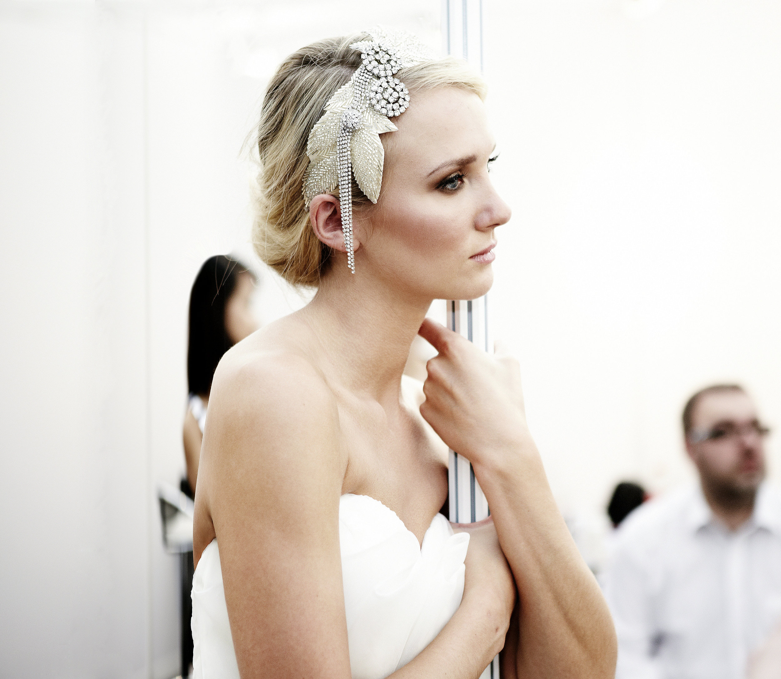 bride looking thoughtful