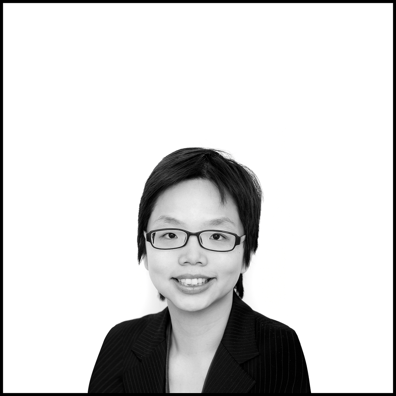 business lady in glasses