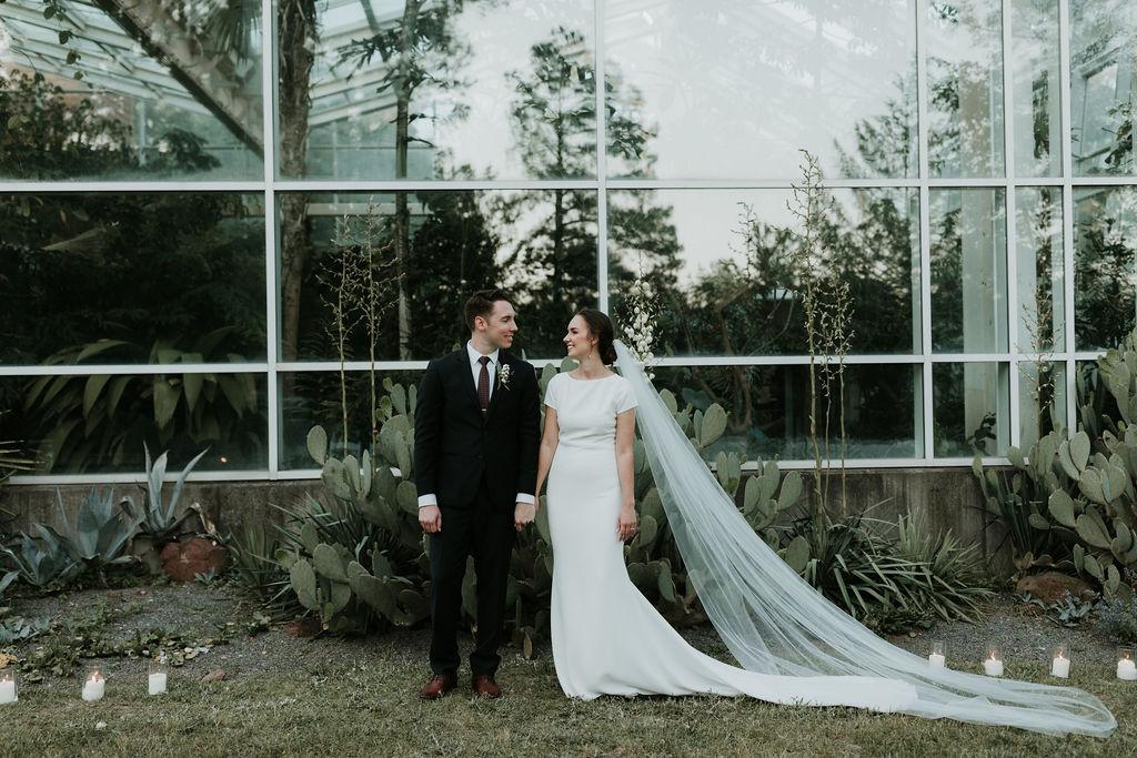 North Carolina Wedding, minimal and elegant ceremony, NC Bride