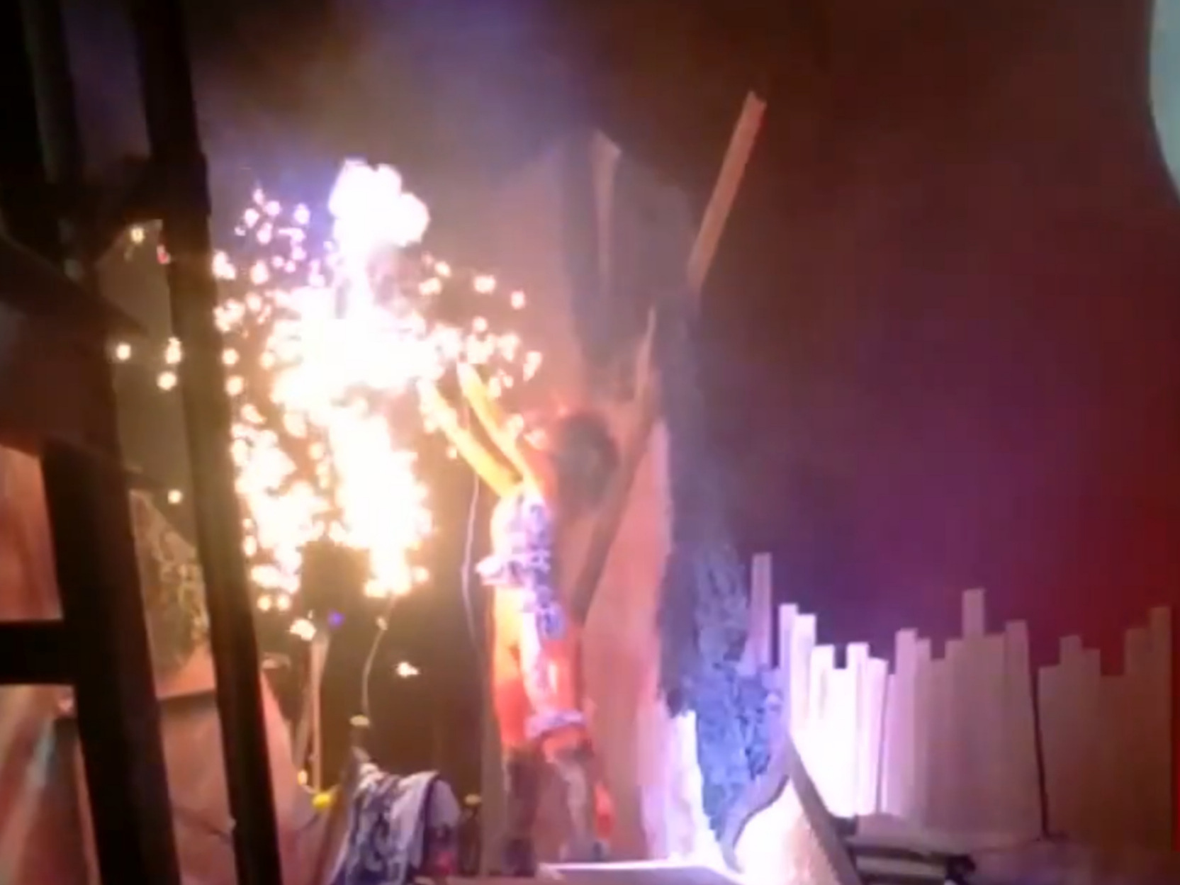 Pyrotechnic effect supplied by Red Green Go for an amateur production of Cats in October 2018