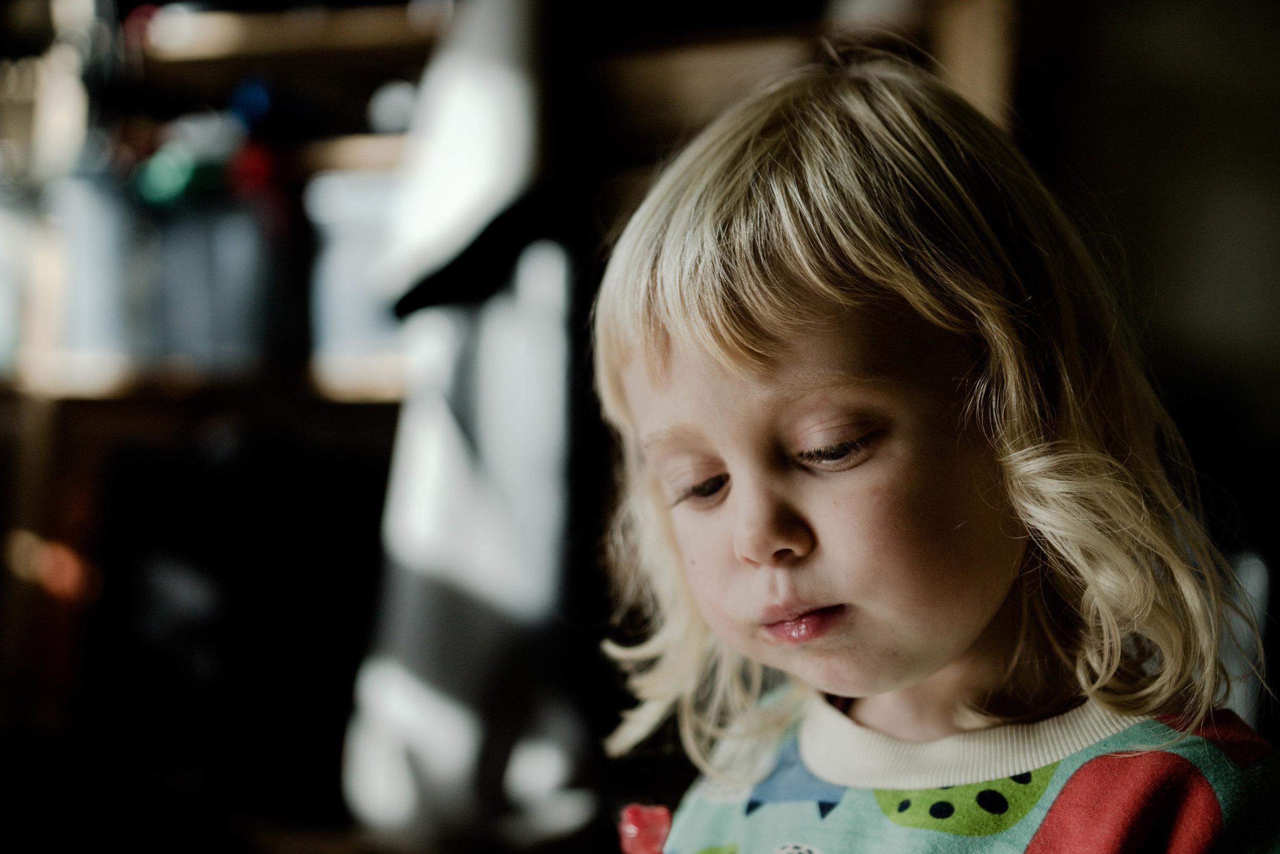 Franquie, 3 år, fick lördagsgodis