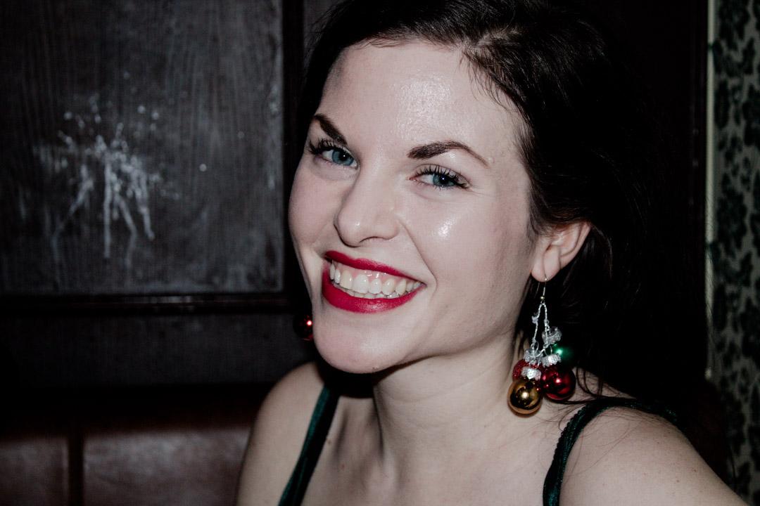 Julia var så fin och var enligt egen utsago julgran.