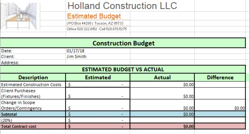 We will provide a detailed budget that meets your scope and design…