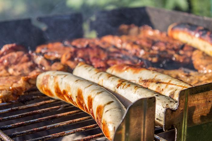 Grilling Brats and Hamburgers