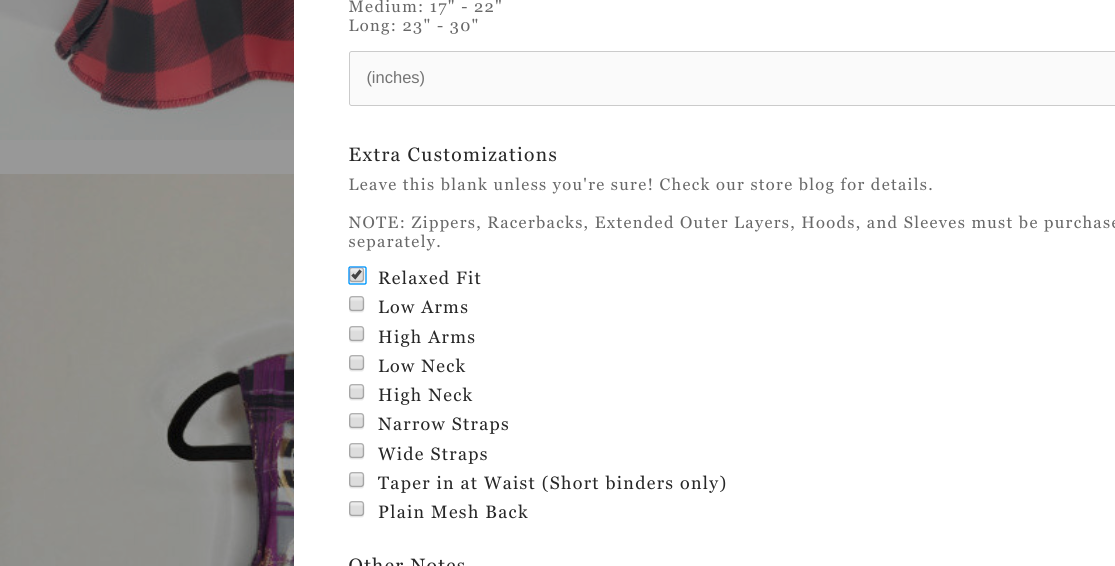 Image: Our order form! Relaxed Fit is the first ticky-box.