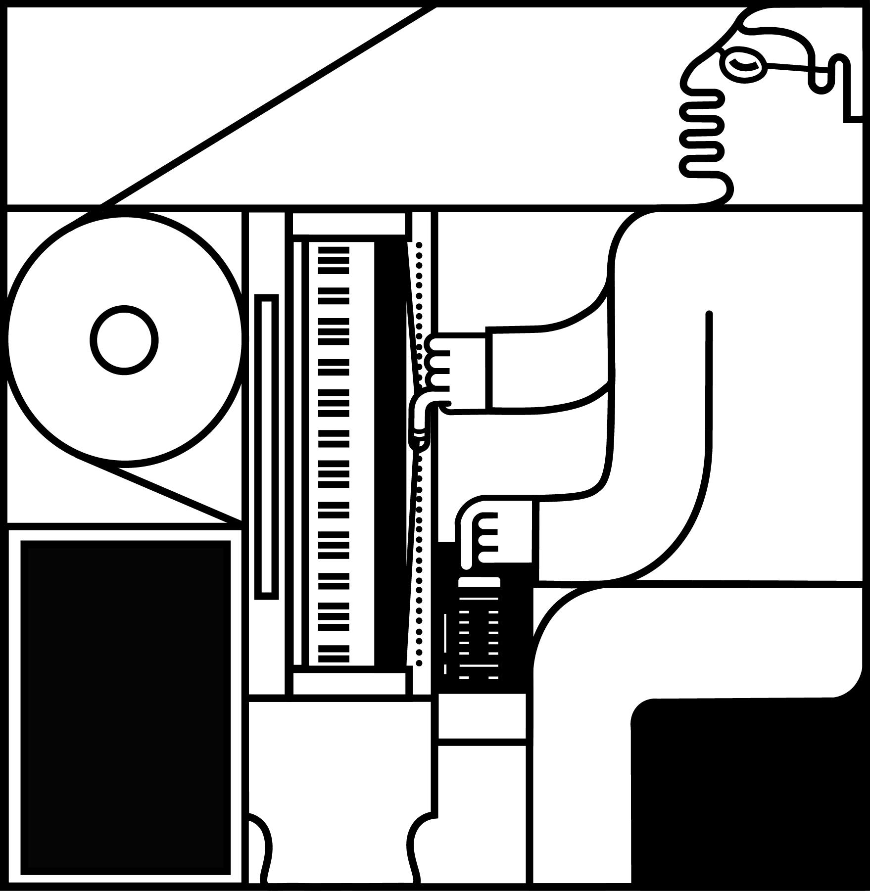 Josh Semans / ondes Martenot (illustration by F. Devine, 2018)