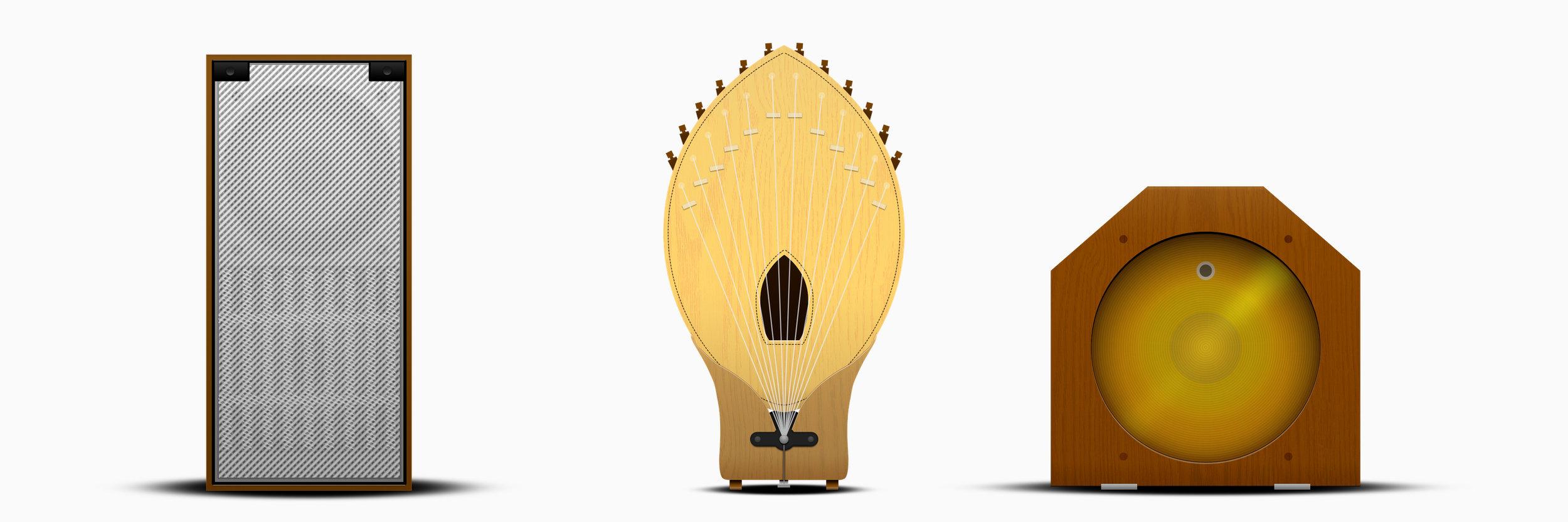 ondes Martenot speakers (Josh Semans, 2019)