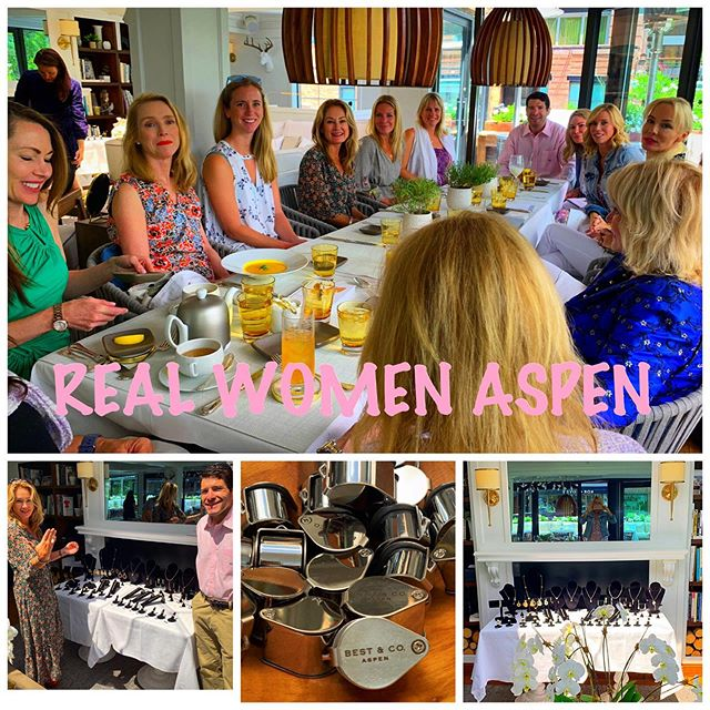 Another wonderful and very informative REAL WOMEN ASPEN luncheon. A very big thank you to Betula restaurant for providing a simply gorgeous setting and delicious cuisine. A very special thank you to Bush Helzberg founder of Best & CO and his beautiful colleagues for the fascinating history and privilege of inside information to the Diamond and precious stone industry... the ladies loved trying on all the gorgeous baubles...💎🙌🏻 👯♂️