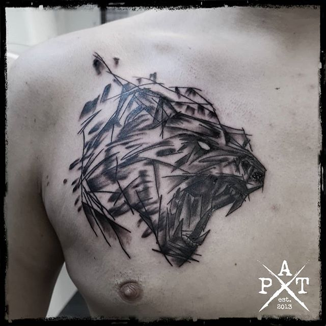Abstract Bear Tattoo  Bevorzugte Stile: 🔹Watercolor 🔹Abstract 🔹Trash 🔹Black/Grey 🔹Realistic  #tattooing #tattoosofinstagram #tattoostudio #tattooink #tattoodesign #tattooist #tattooed #tattoos #tattooartist #tattooshop #tattoolife #tattooer #tattooart #tattoooftheday #tattoo #bear #beartattoo #abstract #abstracttattoo #inkbypat #worldfamousink #ezcartridgecouk #eztattooing #cheyenne_tattooequipment #cheyenne #elitecartridges