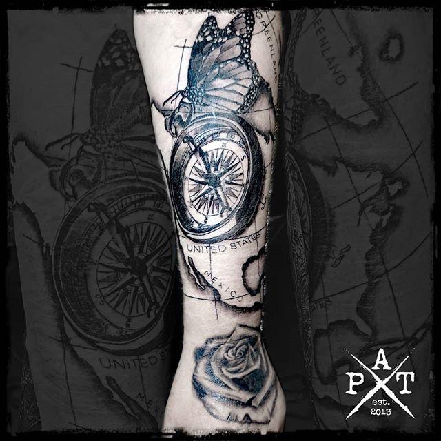 Realistic Narben Cover-up Rose already healed for 1 week.  Bevorzugte Stile: 🔹Watercolor 🔹Abstract 🔹Trash 🔹Black/Grey 🔹Realistic  #tattooing #tattoosofinstagram #tattoostudio #tattooink #tattoodesign #tattooist #tattooed #tattoos #tattooartist #tattooshop #tattoolife #tattooer #tattooart #tattoooftheday #tattoo #rose #rosetattoo #realisticrose #compass #compasstattoo #butterflytattoo #inkbypat #realistic #realistictattoo #silverbackink #ezcartridgecouk #eztattooing #cheyenne_tattooequipment #cheyenne #elitecartridges
