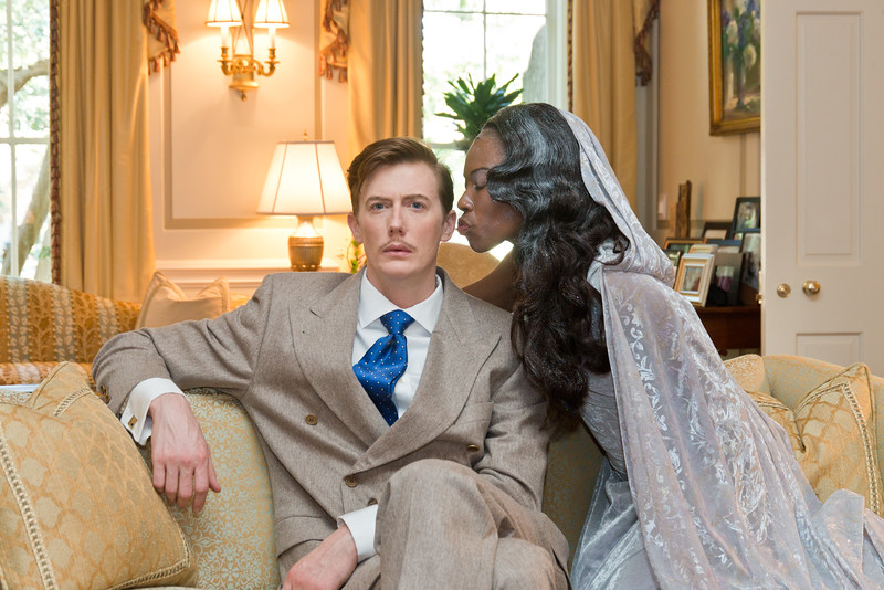 Blithe Spirit  by Noel Coward. Directed by Stan Brown. Photo by Kevin Bush.