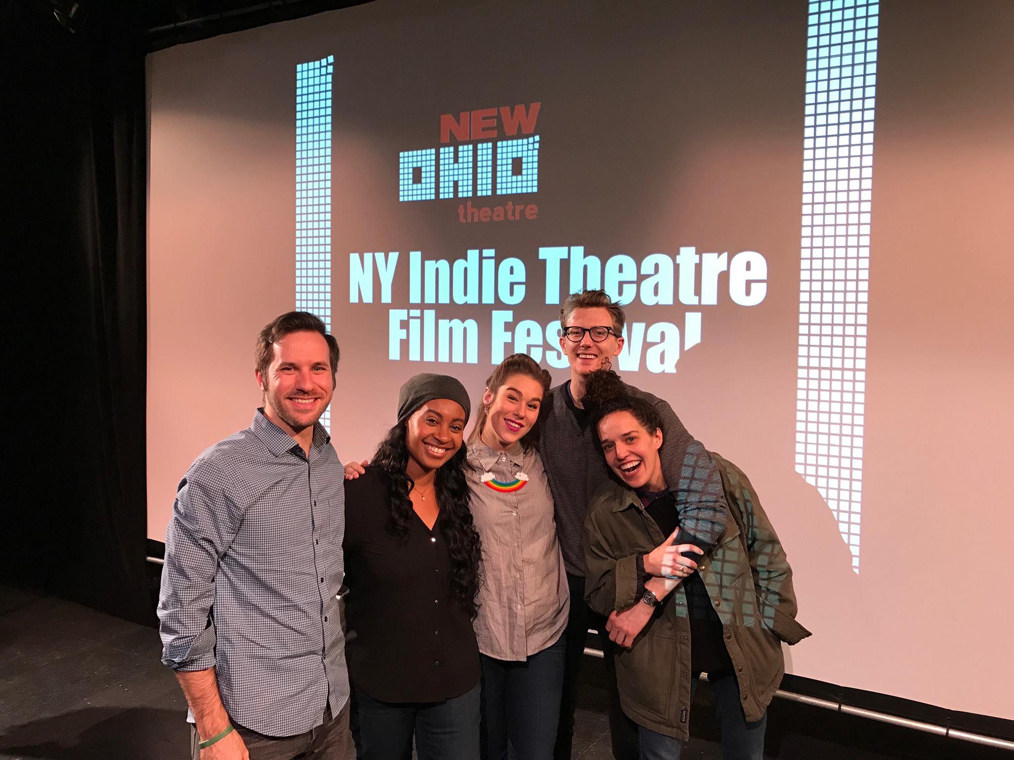 NY India Film Fest finalists Ryan Belock, Brittane Rowe, Lucy Lavely, Josh Jeffers, Meriette Strauss