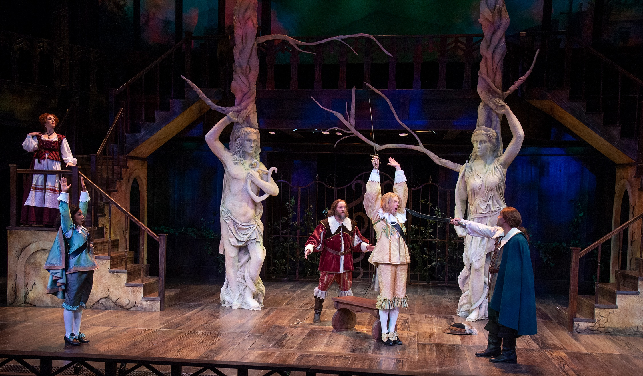 A scene from  Twelfth Night , directed by Sam White. Photo by Karl Hugh