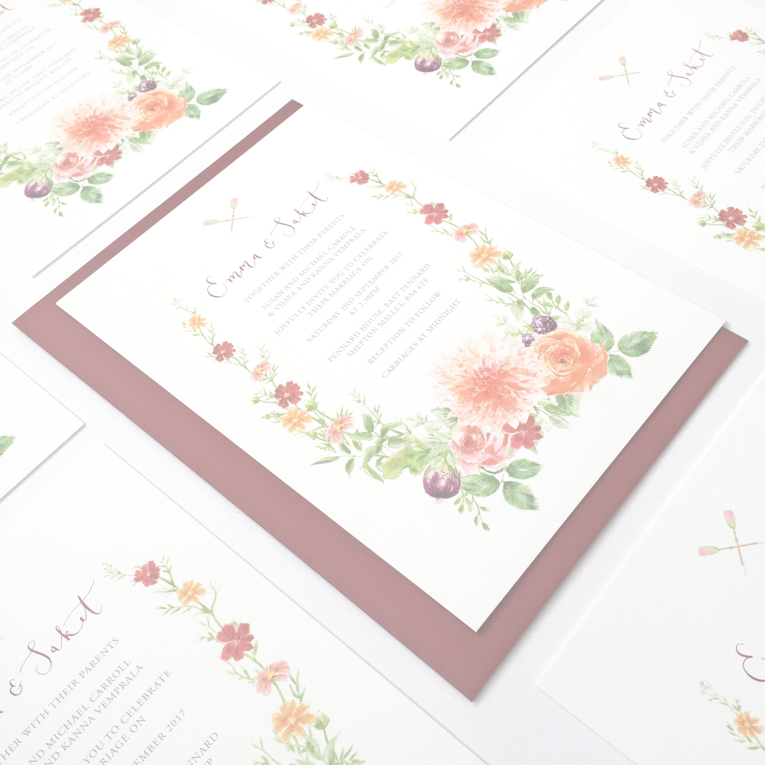 WEDDINGCOLLECTION - Pre-designed stationery suites by artist Suzie Foster
