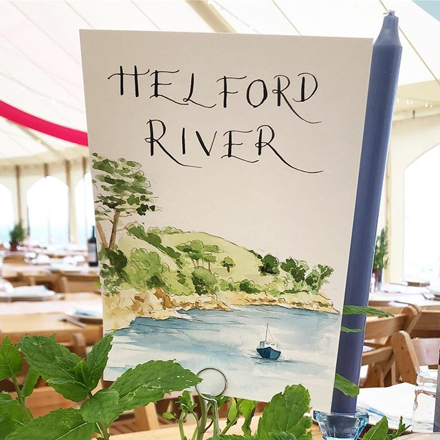 One of thirteen..I painted the table names (rivers, beaches and bays) for our wedding table names. This is my one of my favourite places! #illustratedstationery